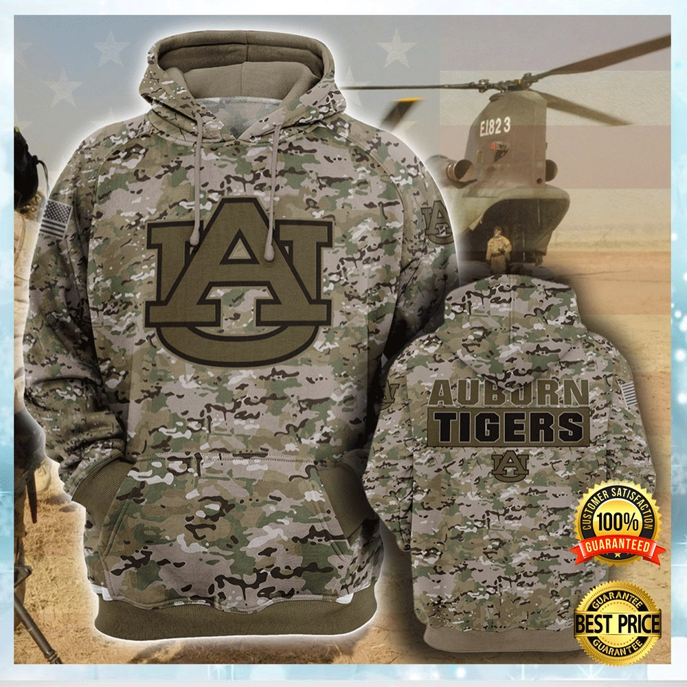 Army Camo Auburn Tigers All Over Printed 3d Hoodie 4