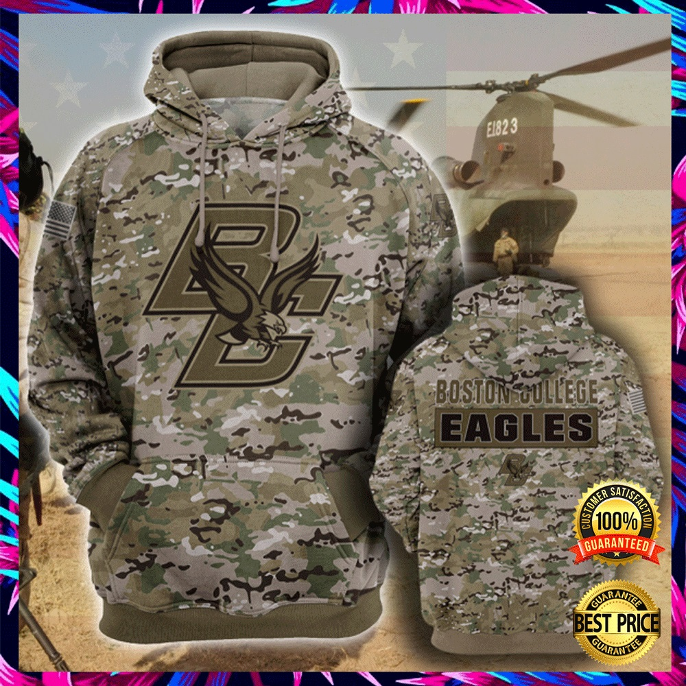 Army Camo Boston College Eagles All Over Printed 3d Hoodie 4