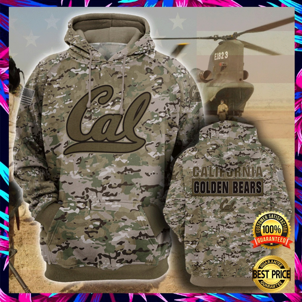 Army Camo California Golden Bears All Over Printed 3d Hoodie 4
