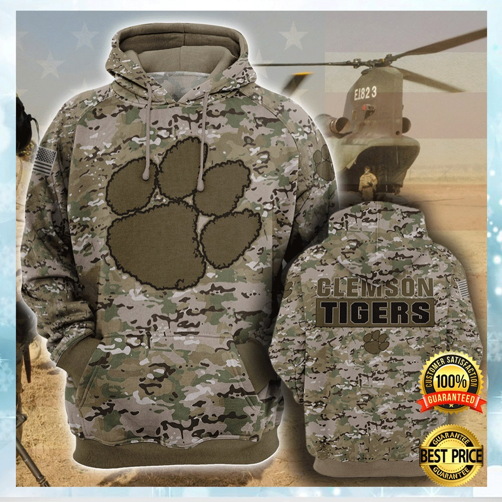 Army Camo Clemson Tigers All Over Printed 3d Hoodie 4