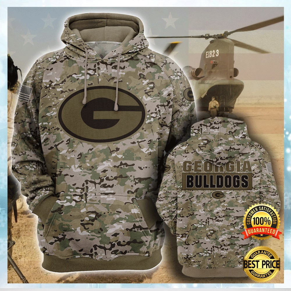 Army Camo Georgia Bulldogs All Over Printed 3d Hoodie 4