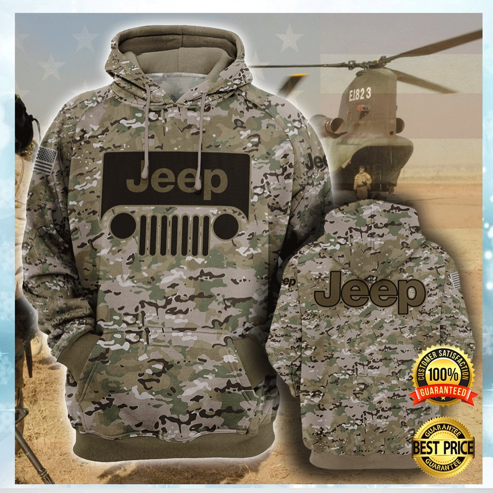 Army Camo Jeep All Over Printed 3d Hoodie 4