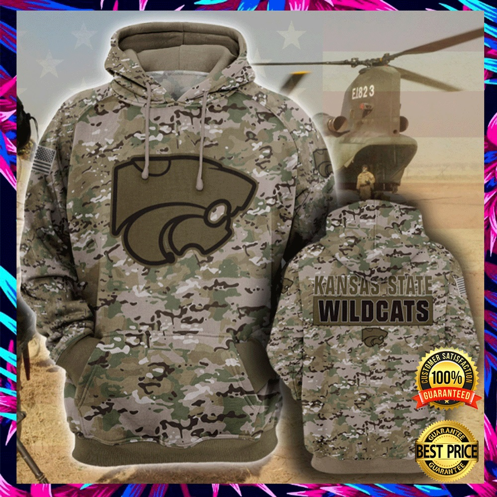 Army Camo Kansas State Wildcats All Over Printed 3d Hoodie 4