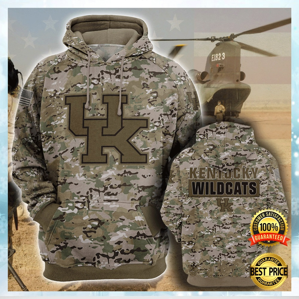 Army Camo Kentucky Wildcats All Over Printed 3d Hoodie 4