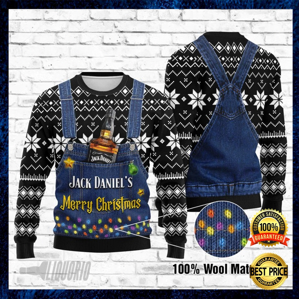JACK DANIEL'S MERRY CHRISTMAS UGLY SWEATER 4