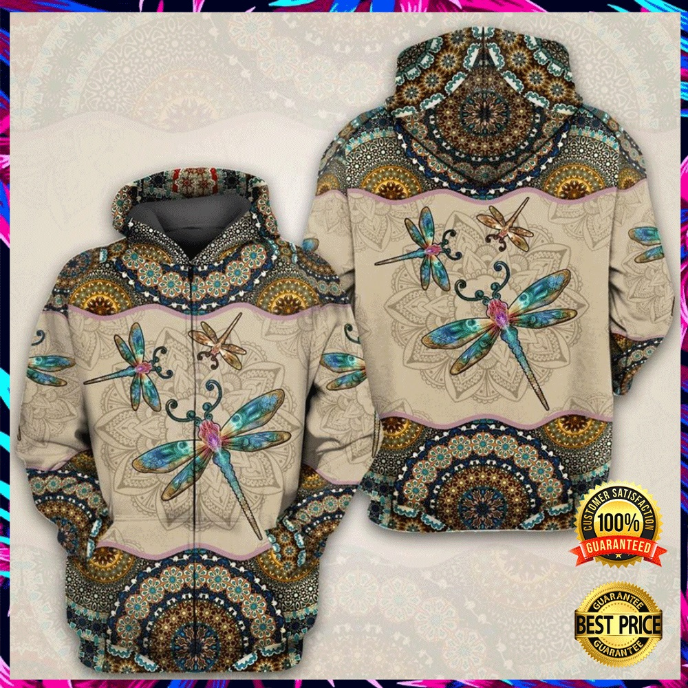 Mandala Dragonfly All Over Printed 3d Hoodie 4