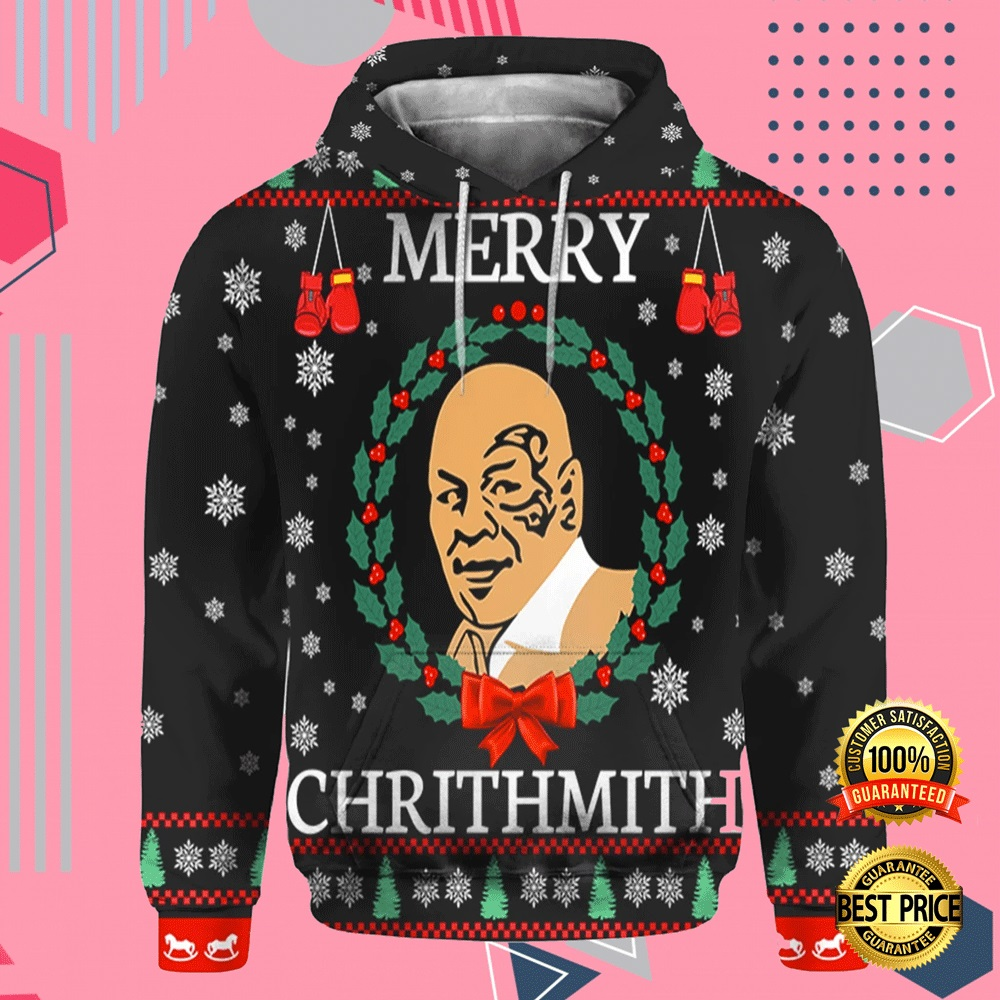 Mike Tyson Merry Chrithmith All Over Printed 3d Hoodie 4