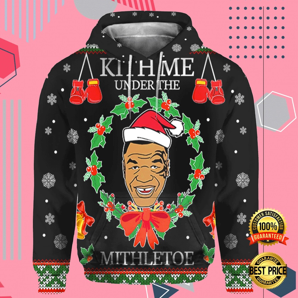 Mike Tyson Kith Me Under The Mistletoe All Over Printed 3d Hoodie 4