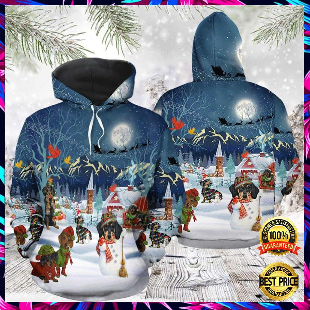 Dachshund Christmas All Over Printed 3d Hoodie 4
