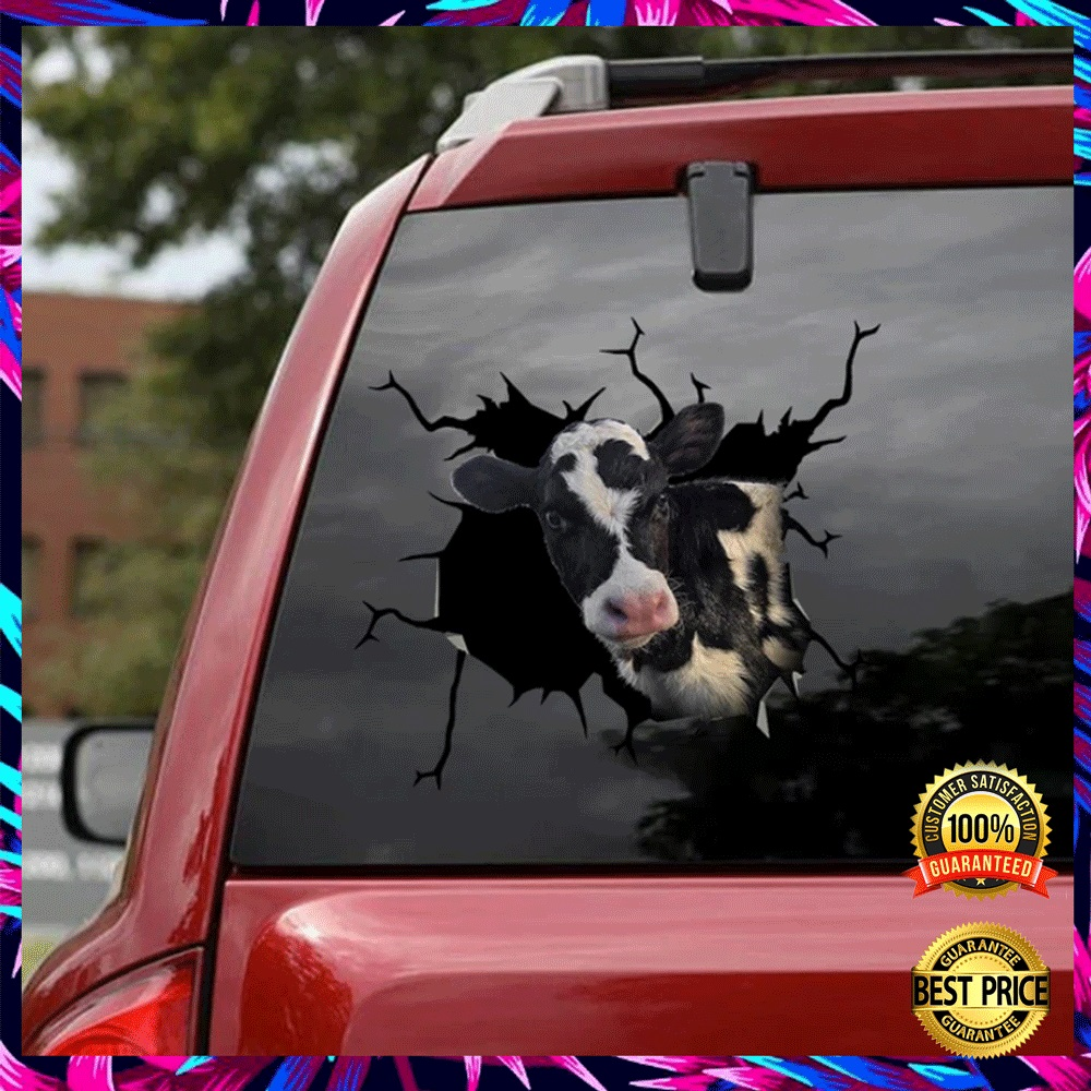 Dairy Cow Crack Decal 4