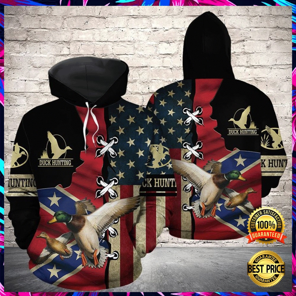 Duck Hunting American Flag All Over Printed 3d Hoodie 4