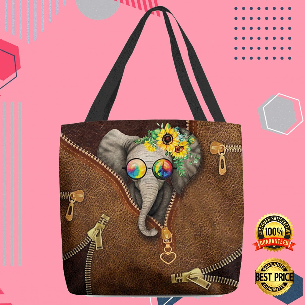 Hippie Elephant Tote Bag 4