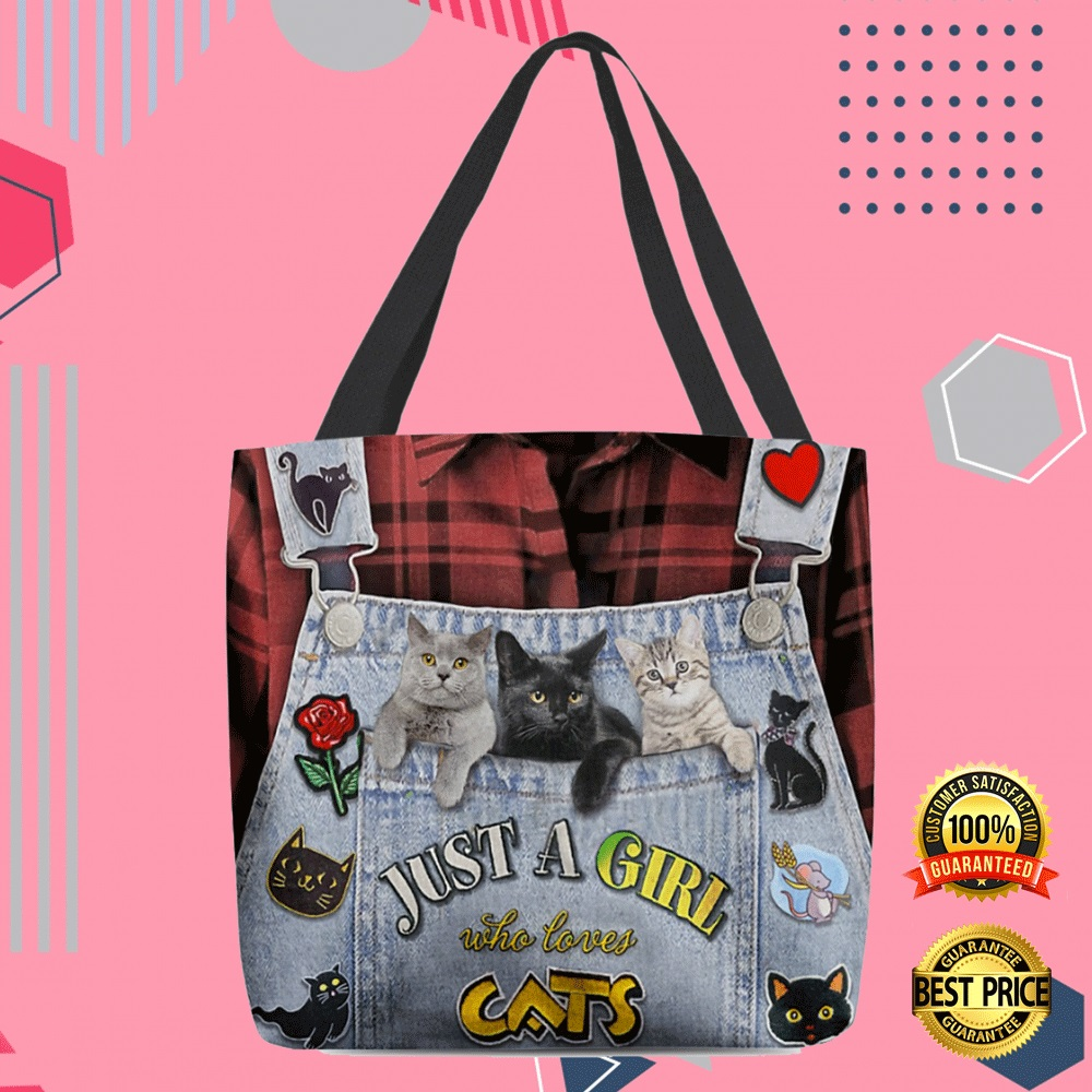 Just A Girl Who Love Cats All Over Tote Bag 4