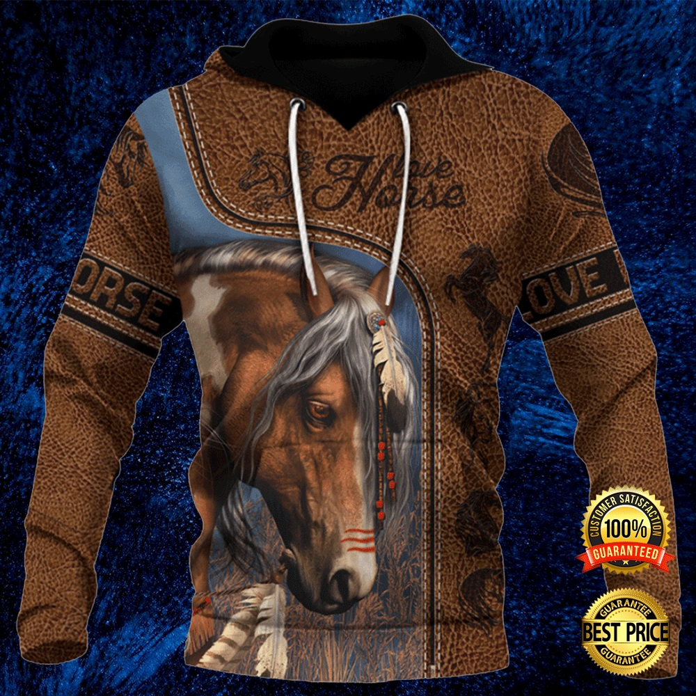 Love Horse Native All Over Printed 3d Hoodie 4