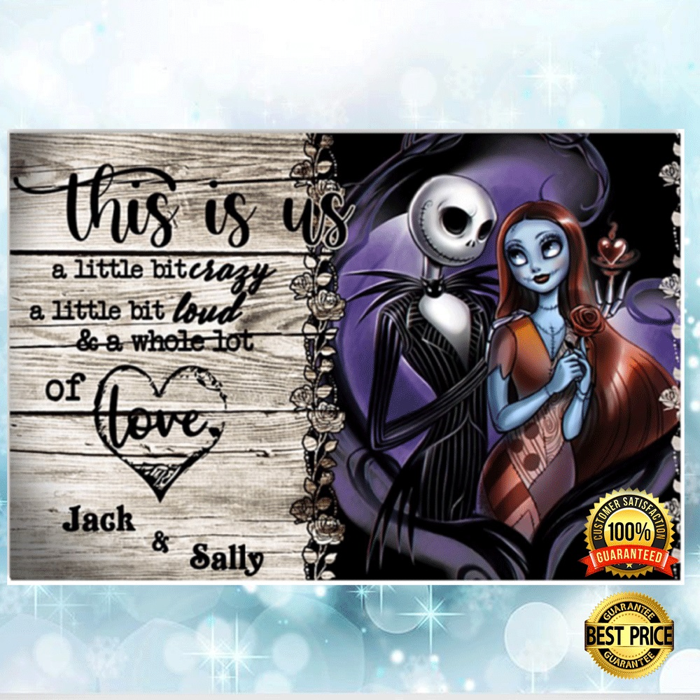 Personalized Jack And Sally This Is Us Poster 4