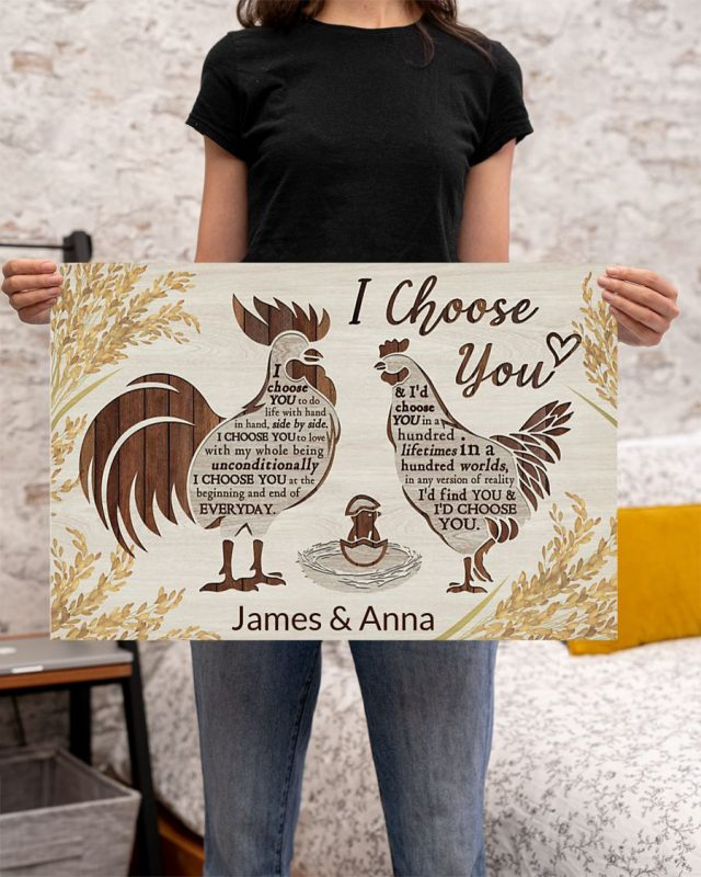 [LIMITED] Poster Chicken I choose you custom personalized name
