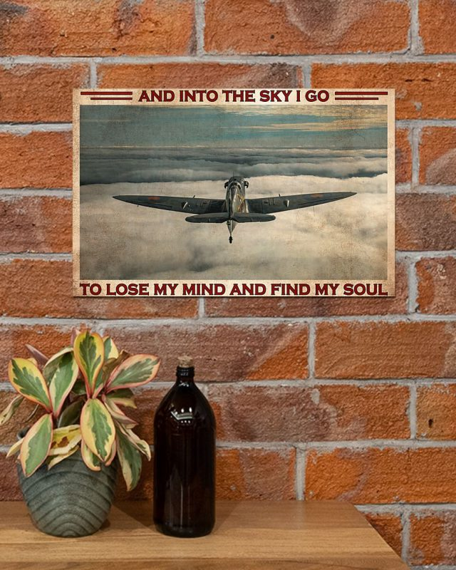 [LIMITED] Poster Pilot and into the sky I go to lose my mind and find my soul