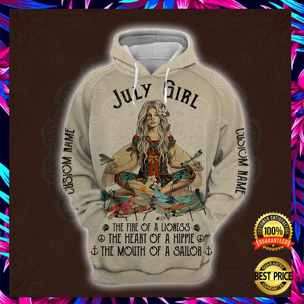 Yoga July Girl He Fire Of A Lioness The Heart Of A Hippie The Mouth Of A Sailor All Over Printed 3d Hoodie 4