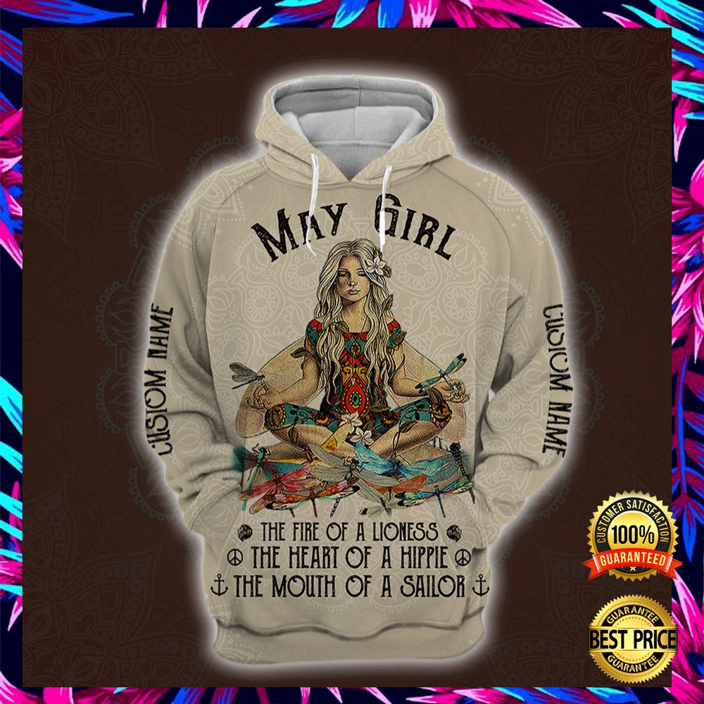 Yoga May Girl He Fire Of A Lioness The Heart Of A Hippie The Mouth Of A Sailor All Over Printed 3d Hoodie 4