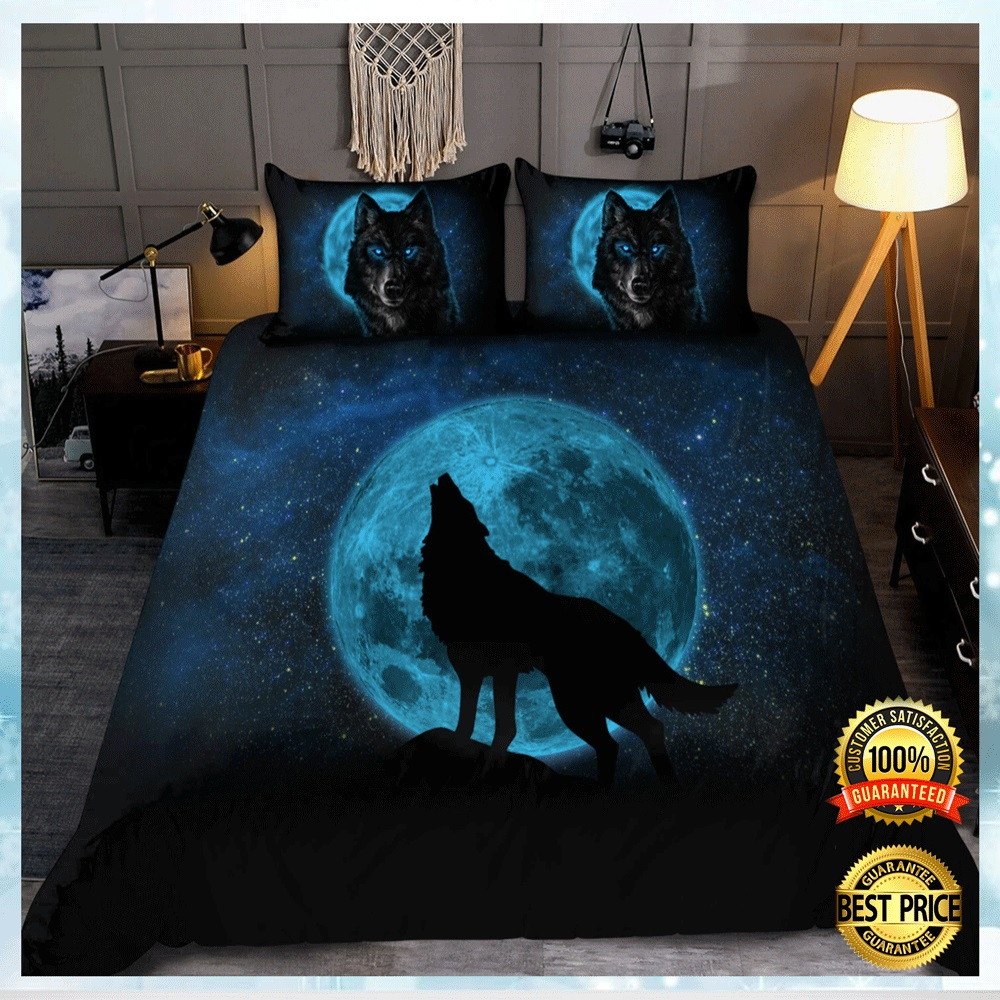 Moon And Wolf Bedding Set 4