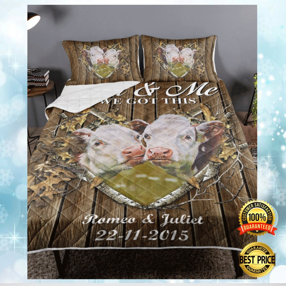 Personalized Cow Couple You And Me We Got This Bedding Set 4