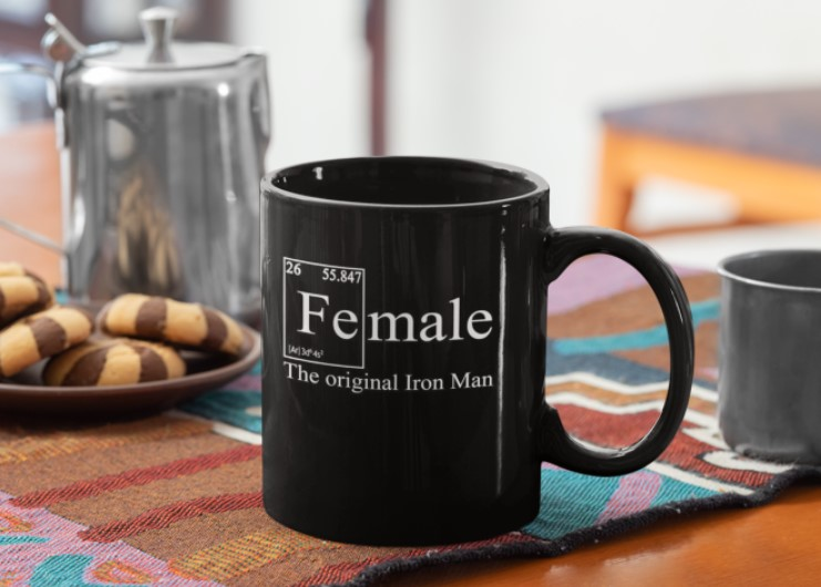 TOP Female the original iron man mug