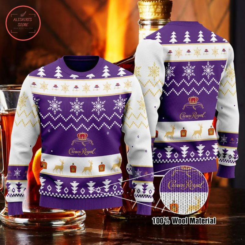 Crown Royal Whisky Christmas Sweater