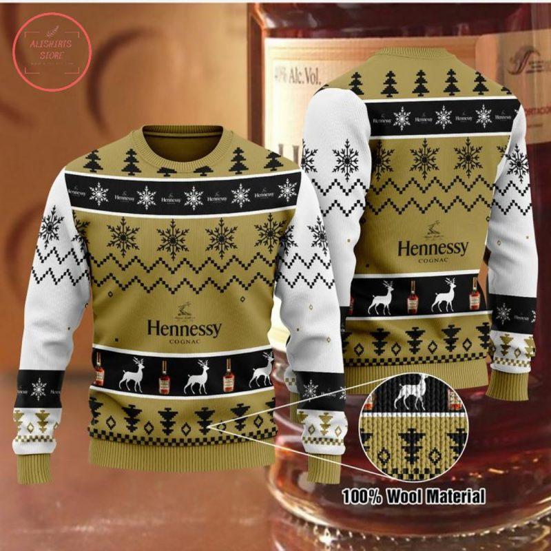 Hennessy Brown Christmas Sweater