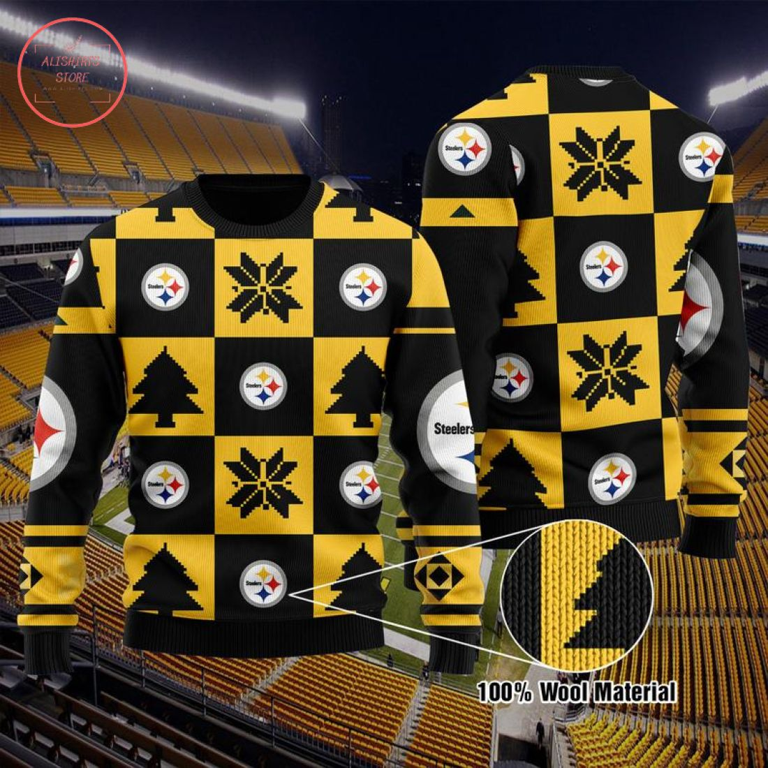 NFL Pittsburgh Steelers Christmas Sweater