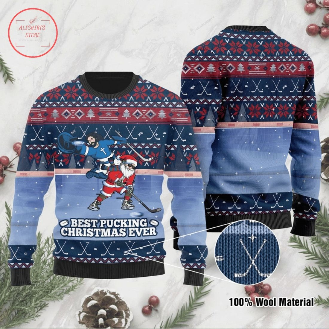 Best Pucking Christmas Ever Ugly Christmas Sweater