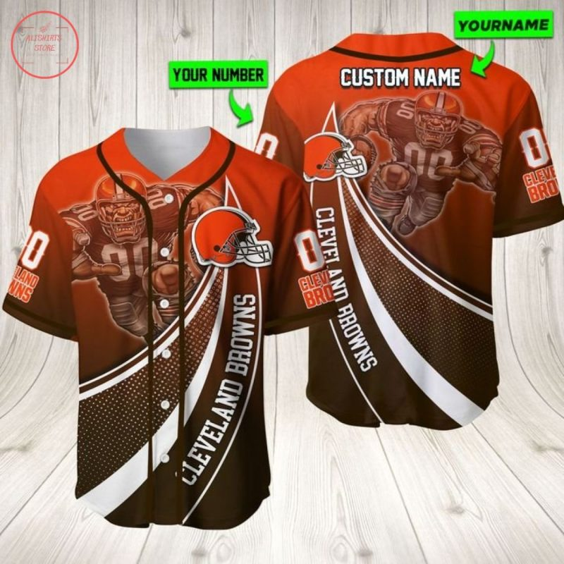 Cleveland Browns Nfl Personalized Baseball Jersey