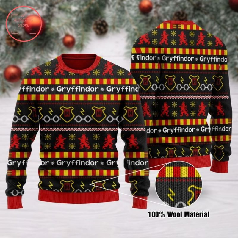 Harry Potter Gryffindor Ugly Christmas Sweater