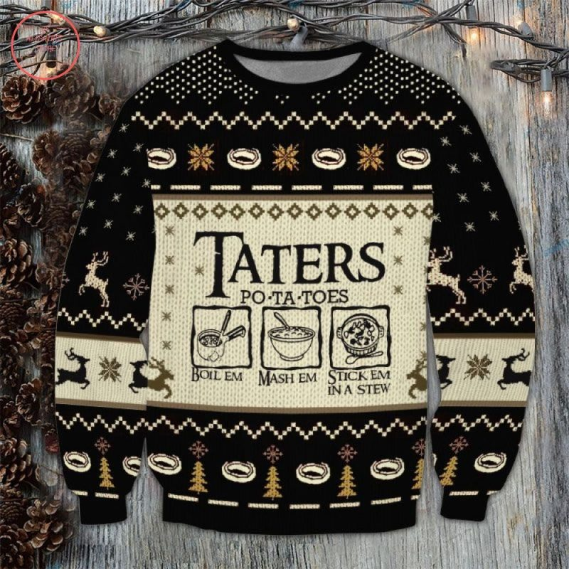 Lord Of The Rings Taters Potatoes Christmas Ugly Sweater