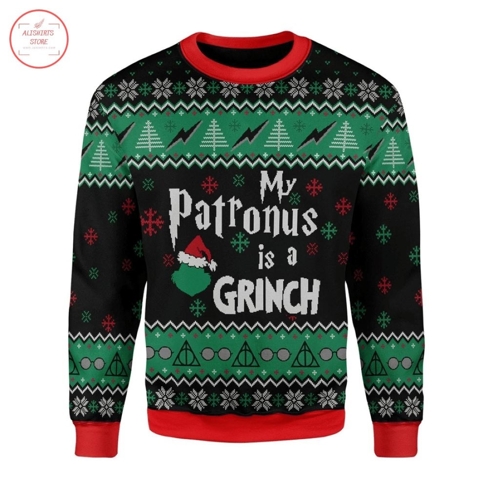 My Patronus Is Grinch Ugly Christmas Sweater