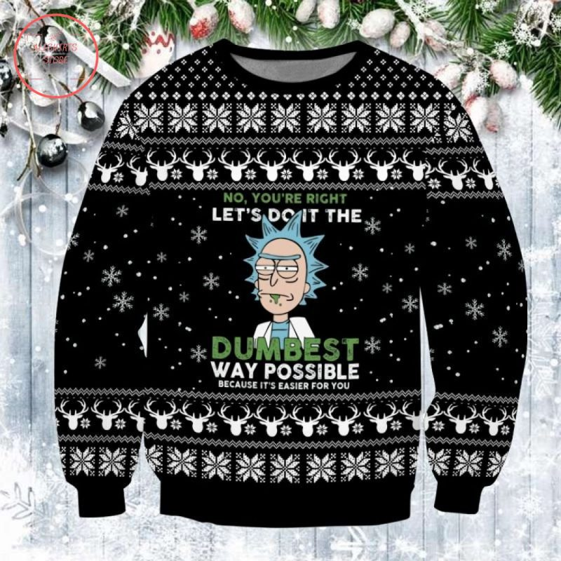 Pickle Rick Ugly Christmas Sweater