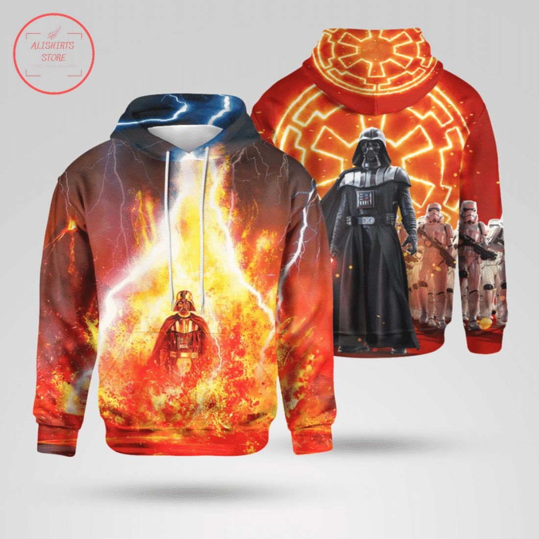 Vader In The Fire All Over Print 3D Hoodie